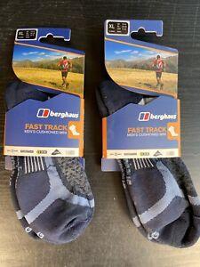 Berghaus Fast Track Mens Cushioned MINI Socks (Ankle Socks) x2 Packs UK 12-14 XL