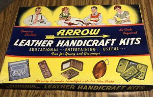 Vintage Arrow Genuine Leather Handicraft Kits, 1953