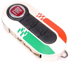 Fiat 500 Punto Single Pearlescent White Remote Key Cover New Genuine 71805962ITL