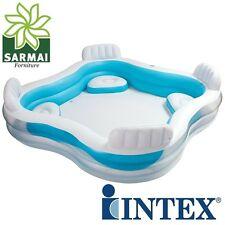Intex 56475 Piscina Gonfiabile cm 229x229 Family con 4 sedute e portabevande