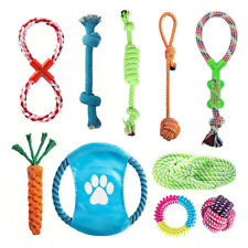 10PC Dog Rope Toys Nolsen Pet Puppy Chew Toy Gift Set Durable Cotton Clean Teeth