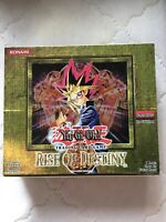 Yugioh Rise Of Destiny 1st Edition Booster Box And Packs EMPTY Great Condition