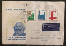 1966 Dresden East Germany DDR  First Day Cover FDC 800 Years Of Karl Max City