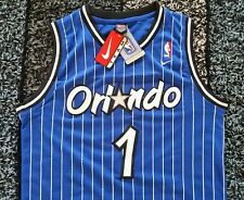 NWT NIKE Anfernee Penny Hardaway Orlando Magic Jersey Size XL Pinstripe Blue