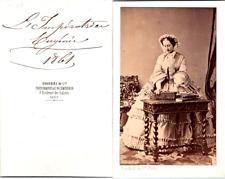 Disdéri, Paris, Impératrice Eugénie en 1861 Vintage CDV albumen carte de visite