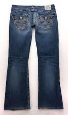 F196 Big Star SWEET ULTRA LOW RISE Bootcut Stretch Jeans sz 30 (32x29.75 Hem)