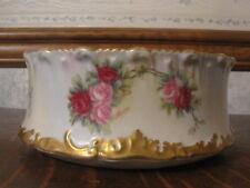 Antique Limoges T & V Porcelain Hand Painted Bowl Roses Signed F. Exier France