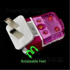 1x Rotate Foldable Foot Fix 2Pin 250V/16A US Plug Rewirable Power Connector DIY