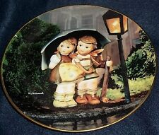 "Hummel Plate Little Companions Collection ""Stormy Weather"" Plus Hanger"