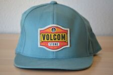 Volcom Stone Drop In Tune Out Est. 1991 Snapback Hat Turquoise Blue Adjustable
