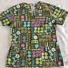 SB Scrubs X Small Fitted Hope Love Care Heal Scrub Top Size XS