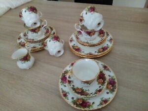 Royal Albert Country Roses  Kaffeeservice 19 tlg