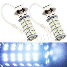 2Pcs Universal H3 68SMD Led Car Driving Fog Lights Front Lamp Replace 8000K 12V