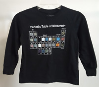 Minecraft Periodic Table Kids T-Shirt Mojang Black Long Sleeve Kids Youth Game S