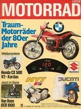 M7725 + Vorstellung HONDA CX 500 + Test Van Veen OCR 1000 + MOTORRAD 25 1977