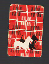 Playing Swap Cards  1  VINT  TWO  SCOTTIE  DOGS  RUNNING   AUSSIE CARD  W361