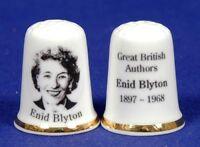 Great British Authors 'Enid Blyton 1897-1968' China Thimble B/107