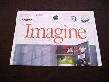 "APPLE COMPUTER VINTAGE ""IMAGINE"" NEWSPAPER W/ RARE JANE GOODALL  POSTER"