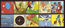 GREAT BRITAIN 2010 OLYMPICS 2 STRIPS OF 5 FINE USED