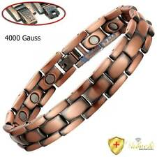 SOLID COPPER MAGNETIC BRACELET FOR MEN WOMEN MAGNETIC THERAPY THERAPEUTIC PC10C