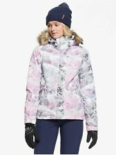 Roxy Jet Ski Snow Jacket - Women's - Medium, Bright White Mysterious View (WBB2)
