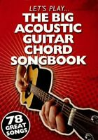 The Big Acoustic Guitar Chord Songbook by Various Book The Fast Free Shipping