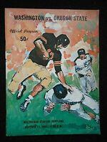 OCT 13, 1962 WASHINGTON VS OREGON STATE PROGRAM @ MULTNOMAH STADIUM PORTLAND EXC