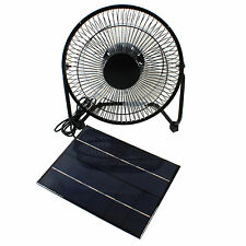 5W Solar Fan 10'' Ventilator For Greenhouse Chicken Pet House RV Camping