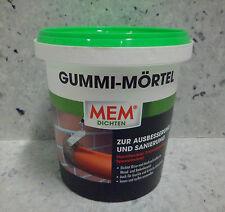 MEM Gummi Mörtel 1,0 kg 2K Abdichtung von Rissen und Ausbruchstellen Wand Boden