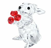 NIB $159 Swarovski Crystal Figurine Rabbit With Roses Bunny # 5063338