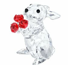 Swarovski Crystal Figurine Rabbit With Roses - 5063338