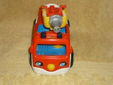 Fisher Price Little People Red Fire Truck Sounds Lights