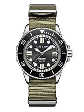 Marc & Sons Diver, reloj Náutico Automatik, zafiro de vidrio, 500m, swiss eta 2824-2, bgw9