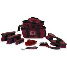 Bentley Equestrian Deluxe Antibacterial Grooming Brushes Horse Cleaning Kit Set