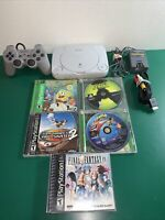Sony Playstation 1 Slim PS1, With Cords, Controller,AV cable 5 Games, Tested