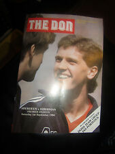 Aberdeen v Hibernian programme Scottish Premier Division 1 September 1984