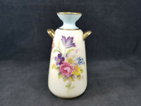 Vintage RARE Paragon England Fine Bone China Miniature Vase Flowers Gold