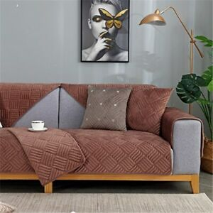 Thicken Plush Fabric Sofa Towel Solid Color Non-slip Couch Cover For Living Room