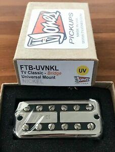 TVJones TV Classic Bridge Pickup. Nickel. Universal Mount