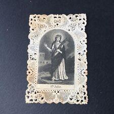 CANIVET SAINTE JULIE XIXè HOLY CARD 19thC Santino