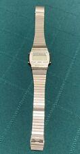Vtg Ambassador Melody Chrono Stainless Steel LCD Alarm Chronograph Digital Watch