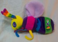 "Lisa Frank VERY COLORFUL BUZZ THE BEE BUG 9"" Plush Stuffed Animal TOY"