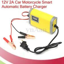 12V 2A Car Motorcycle Smart Automatic Battery Charger Maintainer AC 220V 50/60Hz