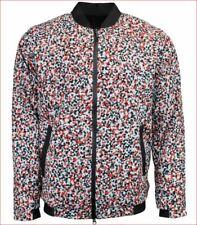 new Asics men jacket bomber Hypergel 159118 white black red XL MSRP $120