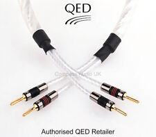 2 x 2.5m QED GENESIS SILVER SPIRAL Speaker Cable AIRLOC Forte Plugs Terminated