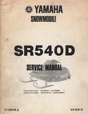 1980 YAMAHA SNOWMOBILE SR540D SERVICE MANUAL LIT-12618-00-31 (831)