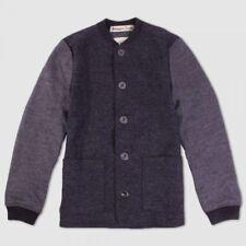 Bolongaro Trevor Charcoal Grey Woollen Baseball Jacket - X Large
