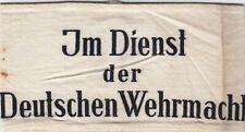 Generalgouvernement Armbinde Im Dienst der Deutschen Wehrmacht, original
