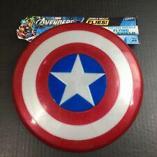 "Captain America Flying Shield Hasbro Avengers 10.5"" never used w/marks e"