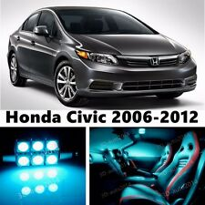 9pcs LED ICE Blue Light Interior Package Kit for Honda Civic 2006-2012